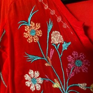 Grand and Greene 2X fiesta top blouse traditional